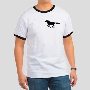 HORSE (black) Ringer T