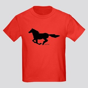 HORSE (black) Kids Dark T-Shirt