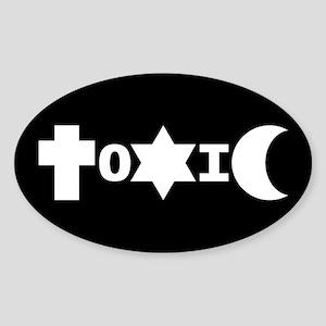 ToXiC Faith Logo Oval Sticker