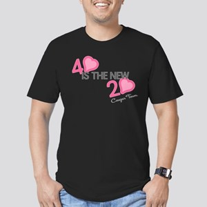 Heart 40 is the New 20 Men's Fitted T-Shirt (dark)