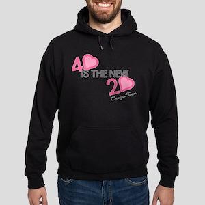 Heart 40 is the New 20 Hoodie (dark)