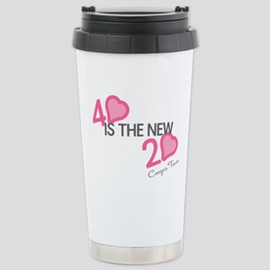 Heart 40 is the New 20 Stainless Steel Travel Mug