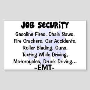 EMT/PARAMEDICS Sticker (Rectangle 10 pk)