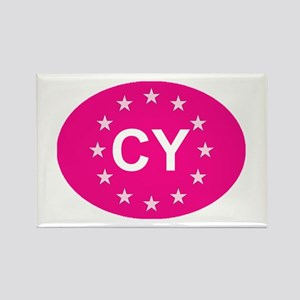 EU Pink Cyprus Rectangle Magnet