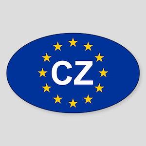 EU Czech Republic Sticker (Oval)