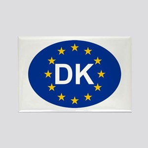 EU Denmark Rectangle Magnet