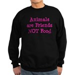 Animals are Friends Not Food Sweatshirt (dark)