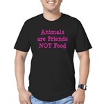 Animals are Friends Not Food Men's Fitted T-Shirt