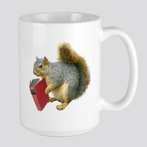 Squirrel with Book Large Mug