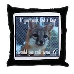 Fox Coat Throw Pillow