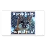 Fox Coat Sticker (Rectangle 50 pk)