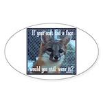 Fox Coat Sticker (Oval 50 pk)