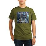 Fox Coat Organic Men's T-Shirt (dark)