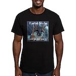 Fox Coat Men's Fitted T-Shirt (dark)