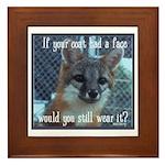 Fox Coat Framed Tile
