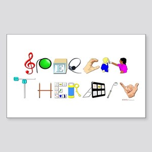 Speech Therapy Sticker (Rectangle)