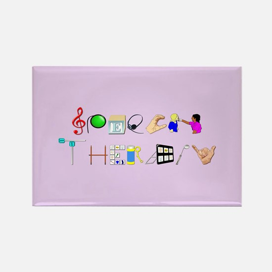 Speech Therapy Rectangle Magnet