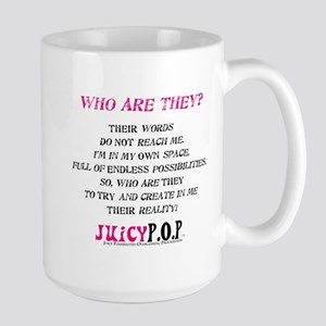 """Who Are They?"" Large Mug"