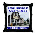 Small Business Creates Jobs Throw Pillow
