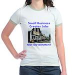 Small Business Creates Jobs Jr. Ringer T-Shirt