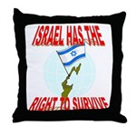 Israel has the Right to Survi Throw Pillow