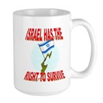 Israel has the Right to Survi Large Mug