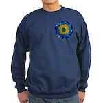 Flower Brooch 2 Sweatshirt (dark)