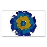 Flower Brooch 2 Sticker (Rectangle 50 pk)