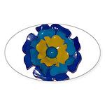 Flower Brooch 2 Sticker (Oval 10 pk)
