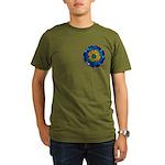 Flower Brooch 2 Organic Men's T-Shirt (dark)