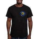 Flower Brooch 2 Men's Fitted T-Shirt (dark)