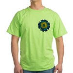 Flower Brooch 2 Green T-Shirt
