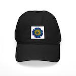 Flower Brooch 2 Black Cap
