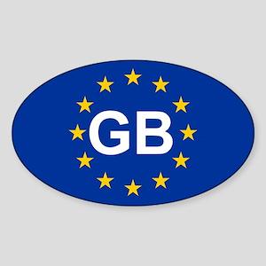 EU UK Sticker (Oval)