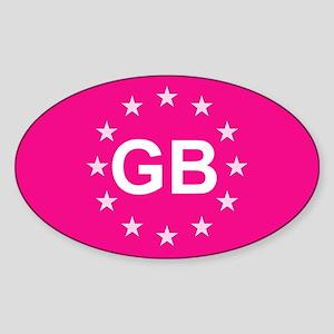 EU Pink UK Sticker (Oval)