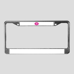 EU Pink UK License Plate Frame