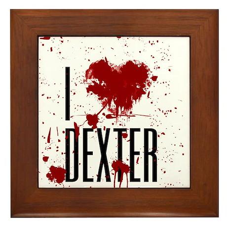 I Heart Dexter Framed Tile