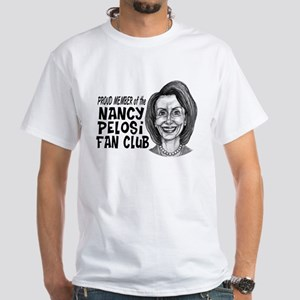 Nancy Pelosi Fan Club White T-Shirt