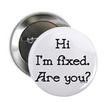 """Hi I'm Fixed 2.25"""" Button (10 pack)"""