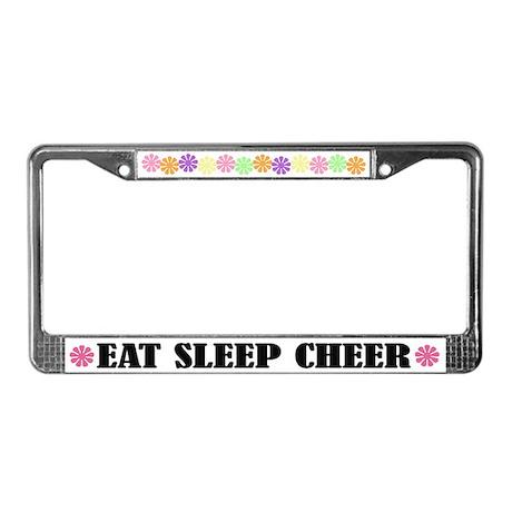 Cute Eat Sleep Cheer License Frame