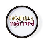 Faithfully Married Wall Clock