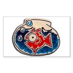 Fish Bowl Sticker (Rectangle 50 pk)