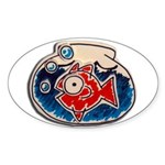 Fish Bowl Sticker (Oval)