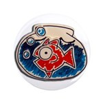 "Fish Bowl 3.5"" Button (100 pack)"