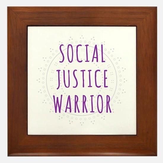 Social Justice Warrior Framed Tile