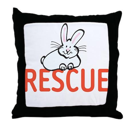 cute bunny RESCUE Throw Pillow