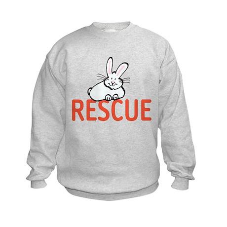 cute bunny RESCUE Kids Sweatshirt
