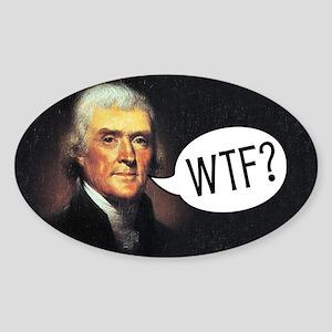 Jefferson - WTF Sticker (Oval)