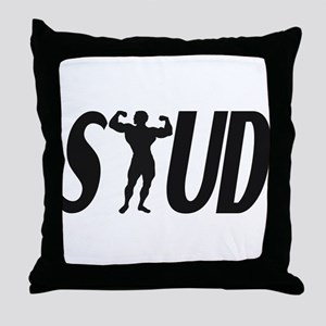 Stud Muscles Throw Pillow