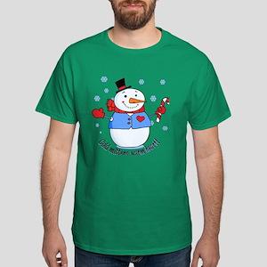 Cold Mittens Snowman Dark T-Shirt